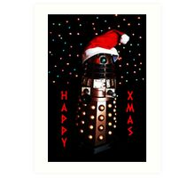 Happy Christmas Dalek Christmas Card Cards Art Print
