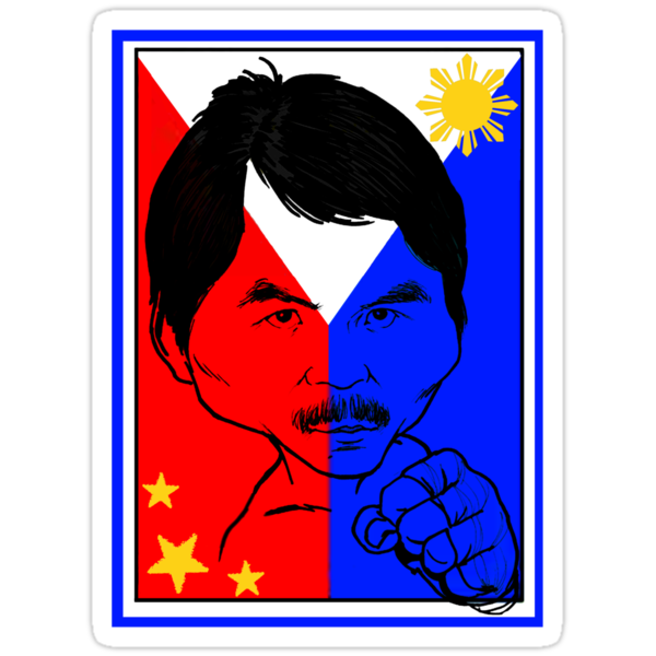 MANNY PACQUIAO: IRON FIST TEE by SOL  SKETCHES™