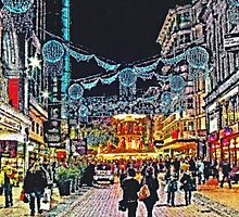 New Street @ Christmas by Peter Allen