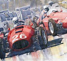 Lancia D50 Alberto Ascari Monaco 1955 by Yuriy Shevchuk