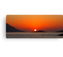 Dodecanese sunset Canvas Print