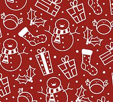 Red & White Festive Icons by Lisa Marie Robinson