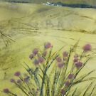 pastel & watercolour landscape (version of work by A.Blockley) by Annie Wise
