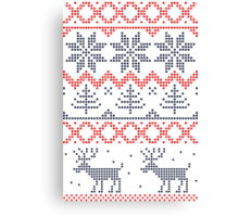 Nordic Xmas pattern Canvas Print