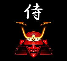 Red Kabuto (Samurai helmet) iPhone / iPod case by Steve Crompton