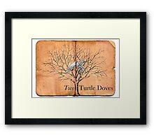 Two Turtle Doves Framed Print