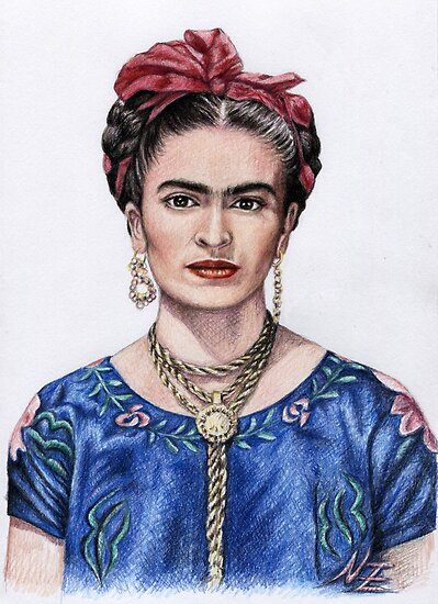 Hommage to Frida Kahlo by Nicole Zeug