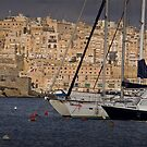 Valletta Wharf (taken from Kalkara central Bay) Malta by Edwin  Catania