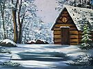Cabin in Winter by teresa731