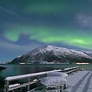 North Light over the pier by Frank Olsen