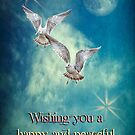 Happy New Year (Birds) by Bonnie T.  Barry