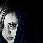 Dramaticly Dark Self Portrait by Miranda Rose