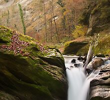 Autumn waterfall in Cheran river by Patrick Morand