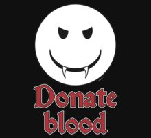 Donate Blood - Vampire Smiley by Alejandro Cuadra