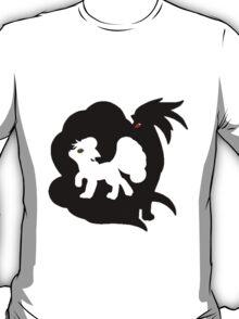 Vulpix evolution chart 2 (transparent) T-Shirt