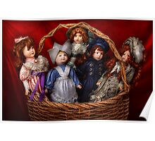 Toy - Dolls - A basket of Victorian dolls  Poster