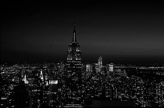 Manhattan at Night by JMChown