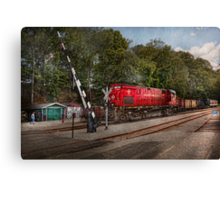 Train - Diesel - Look out for the Locomotive  Canvas Print