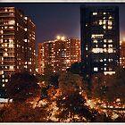 Morningside Heights at Night by Forrest Harrison Gerke
