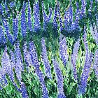 Russian Sage wildflowers in watercolor by Amy-Elyse Neer