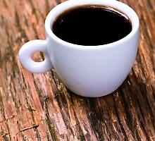 Coffee on Wood by Gservo