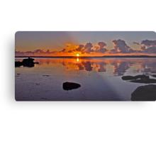 Sunrise on Tuggerah Lake. Metal Print