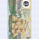 Australia $10 Bank Note Vintage by CaseBase