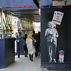 Einstein, street art, banksy, love is the answer  by Jason Gleeson