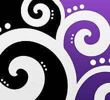 Elegant Swirls Purple by Rewards4life