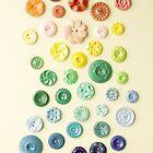 Vintage Button Gradient iPhone case by JillianAudrey