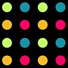 Candy Polka Dot Blue On Black by Rewards4life