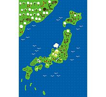 cartoon map of japan Photographic Print