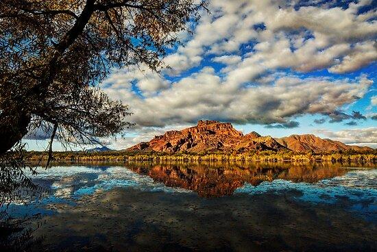 Red Mountain Reflections  by Saija  Lehtonen