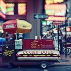 Lucky Dogs stand on Bourbon Street in New Orleans (square) by Alfonso Bresciani