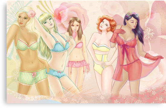 Lingerie Girls by wendyding
