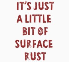 Surface Rust - Restoring VWs Kids Clothes