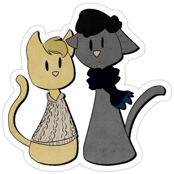 Sherlockian Cats- Stickers by imbusymycroft