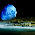 Blue Coastal Moon by flexigav