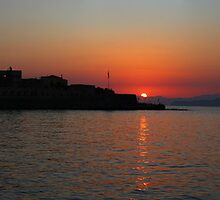 Chania Sunset by Emma Holmes