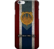 Battlestar Galactica Caprica Flag - So Say We All iPhone Case/Skin