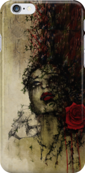 To be a rose - iphon case by artsmitten