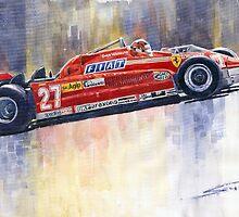 Ferrari 126 CK Gilles Villeneueve Spanish GP 1981 by Yuriy Shevchuk