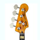 Fender Bass iPhone case by andytechie