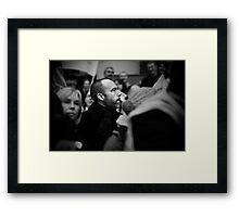A Face In The Crowd Framed Print