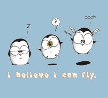 I Believe I Can Fly by afatpenguinshop