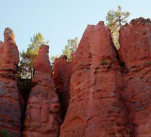 Ochre cliffs by Christopher Cullen