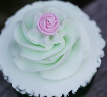 Minty fresh cupcake by Cathryn Swanson
