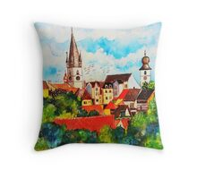 Summertime in One of Draculas Cities Throw Pillow