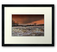 Broken Scar V, River Tees, Stormy  December afternoon Framed Print