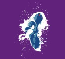 Mega Man Splattery Shirt or Hoodie - Any Color by thedailyrobot